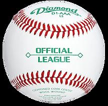 Diamond D1-AAA-LS Semi Pro League Baseballs - Dozen
