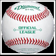 Diamond D1-OL Official League Practice Baseballs - Dozen