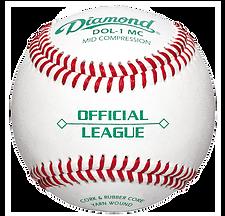 Diamond DOL-1-MC Official League Baseballs - Dozen