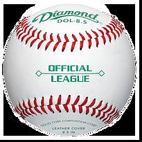 Diamond DOL-8.5 Official League Baseballs - Dozen
